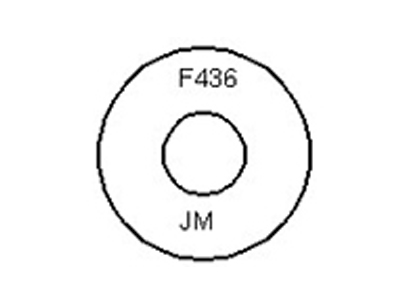 Dimensions of F436 Flat Washer