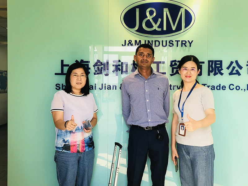 Aug. 1st  2018, One of our customers from India visits us