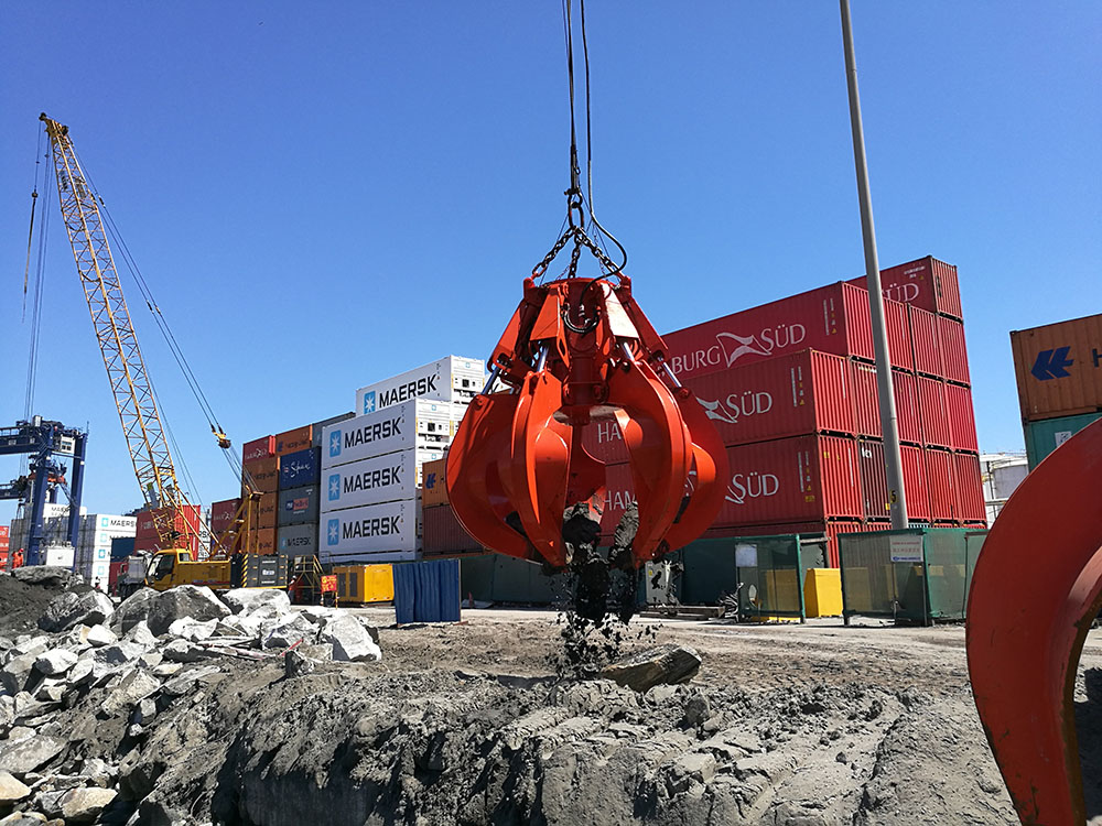 Dredging Electric Hydraulic Orange Peel Grab