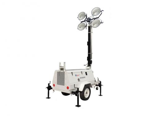 9m high metal halide manual Lighting tower 4000W