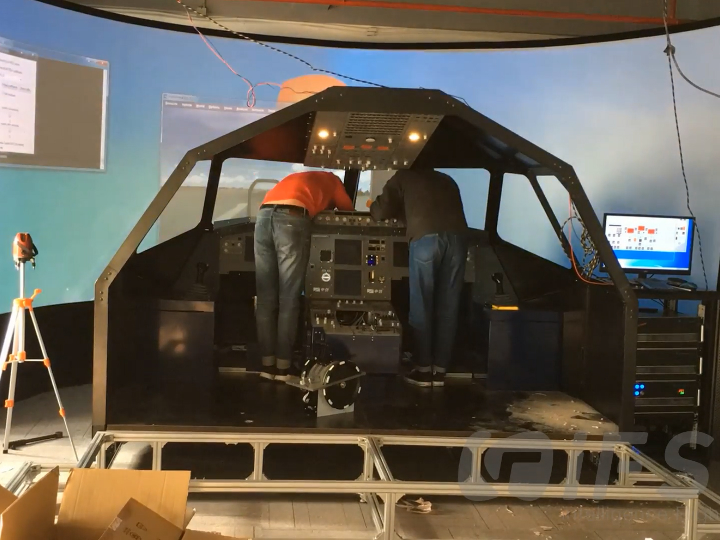 iFSim.A320 flight simulator Assembly Process