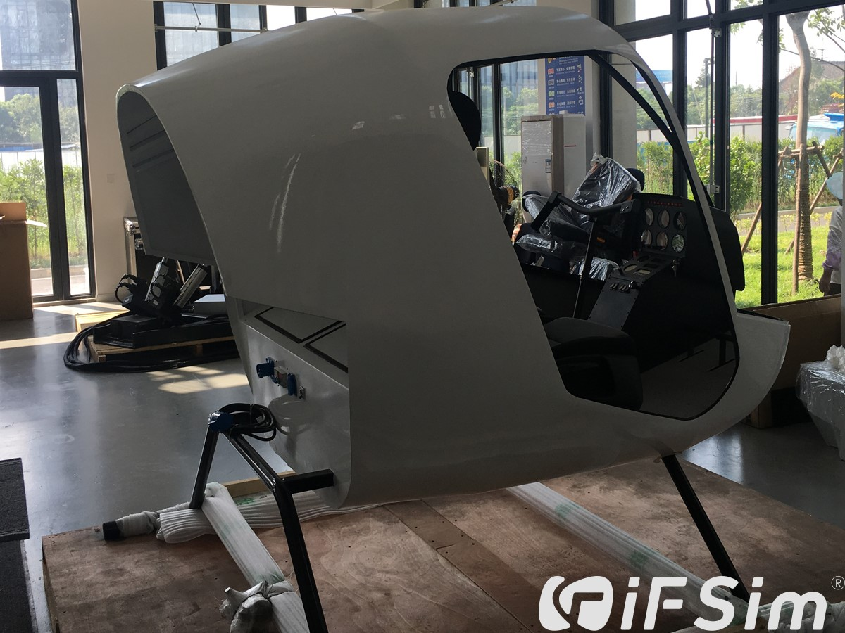 R22 helicopter simulator completed assembly