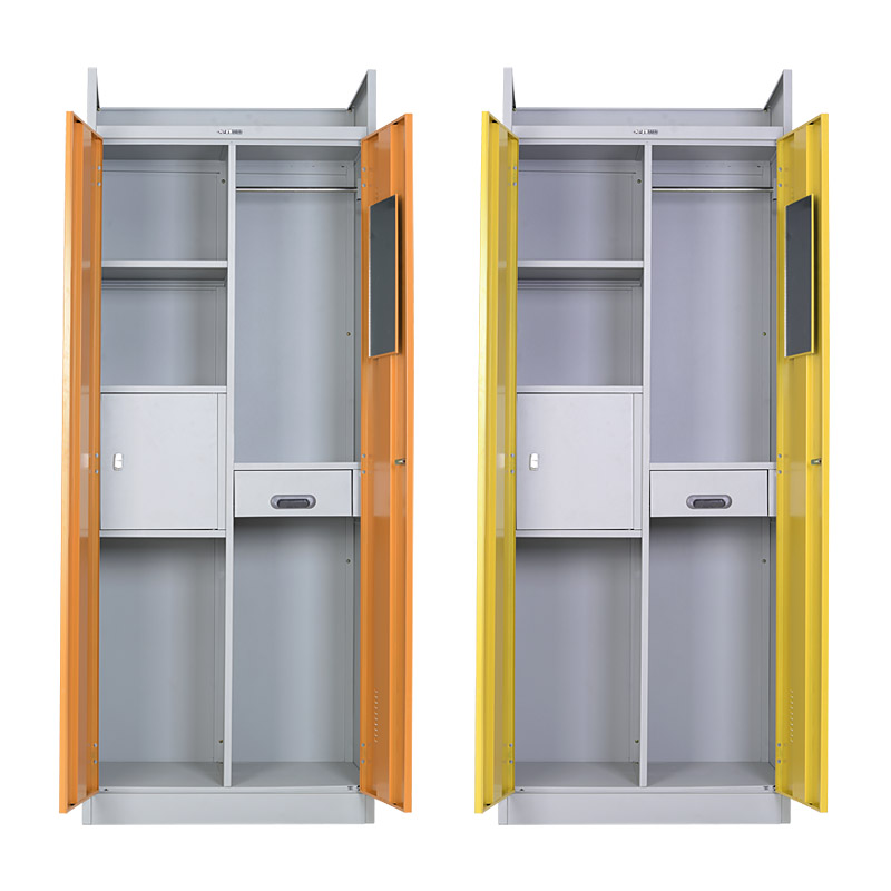 Mirrored filing & clothing cabinet with inner lockable box