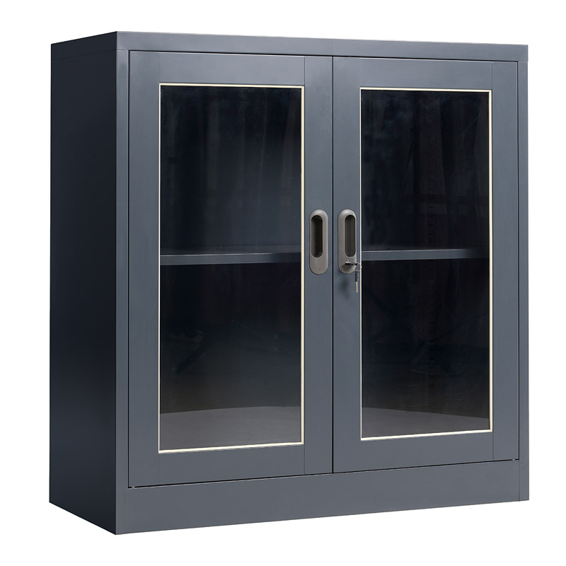 Glass swing doors cupboard 900*900mm