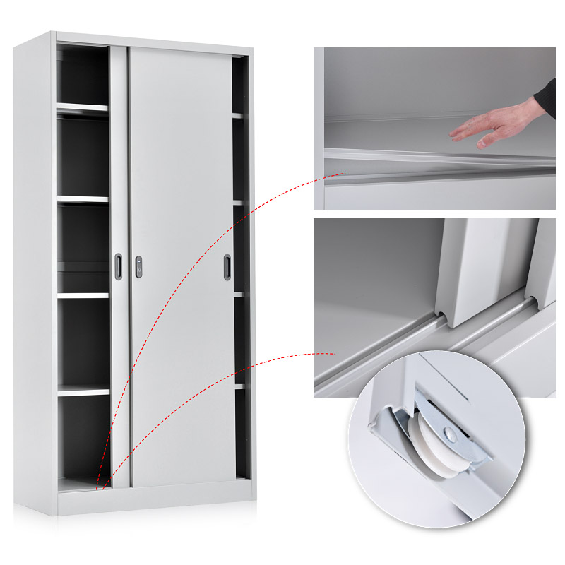 Metal sliding door cabinet 900*1850mm