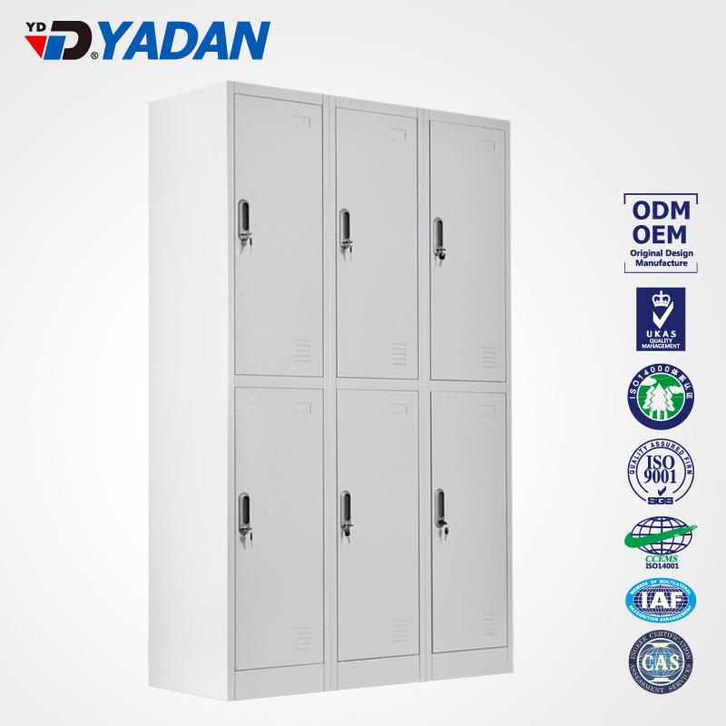 6 doors locker - bank of 3 wide 1140*1850mm