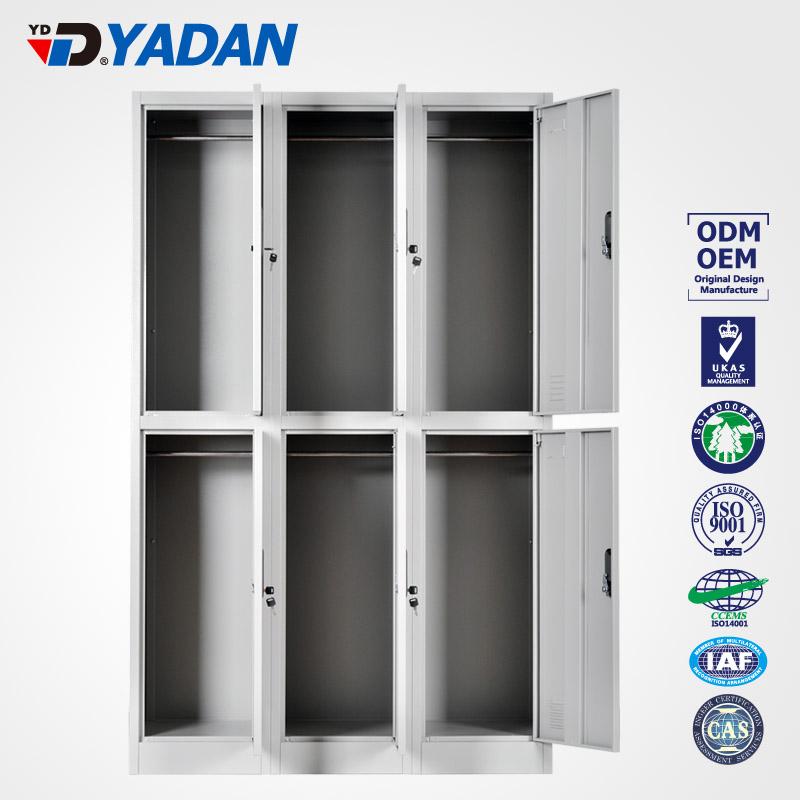 6 doors locker - bank of 3 wide 900*1850mm
