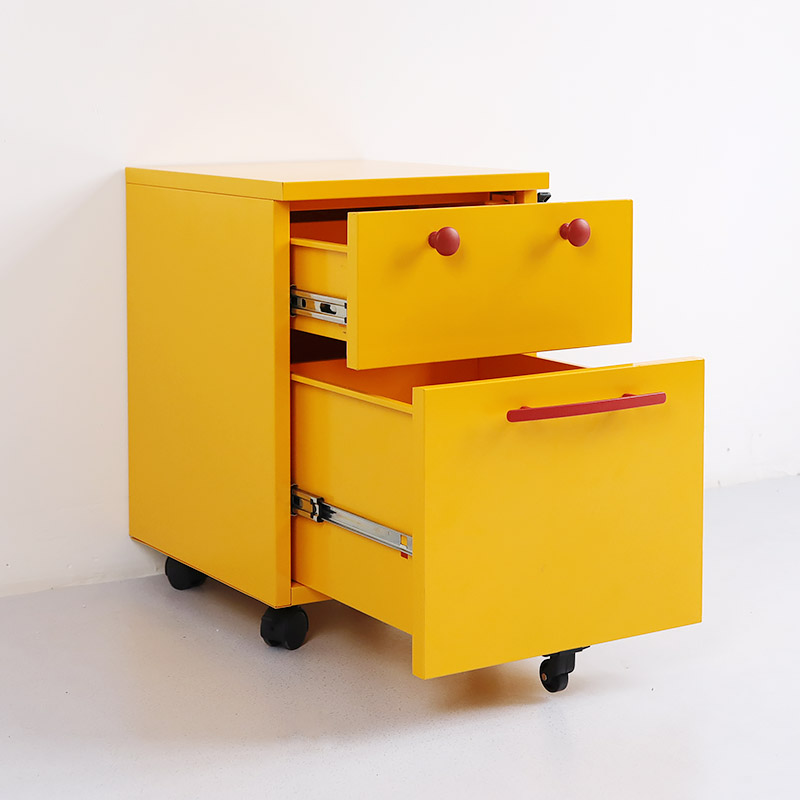 2 drawers smiley movable cabinet