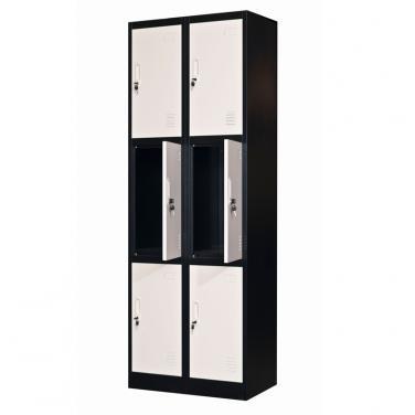 6 doors locker- bank of 2 wide 600*1850mm