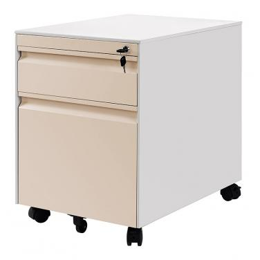 2 Drawers Goose Neck Pedestal