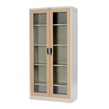 Glass swing doors cupboard 900*1400mm