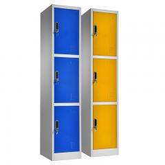 Triple doors storage locker