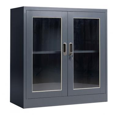 玻璃双层掩门柜