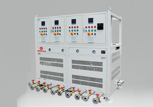 Water temperature control unit for rubber calender