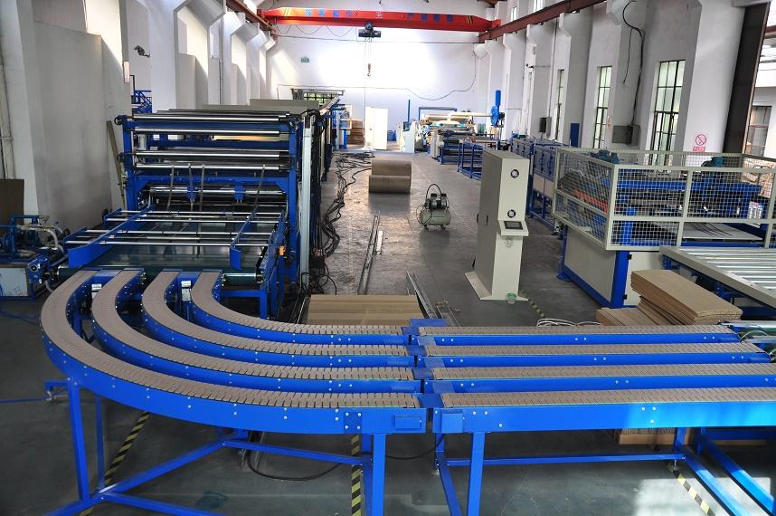 上海綠順-瓦楞復合板生產線參數