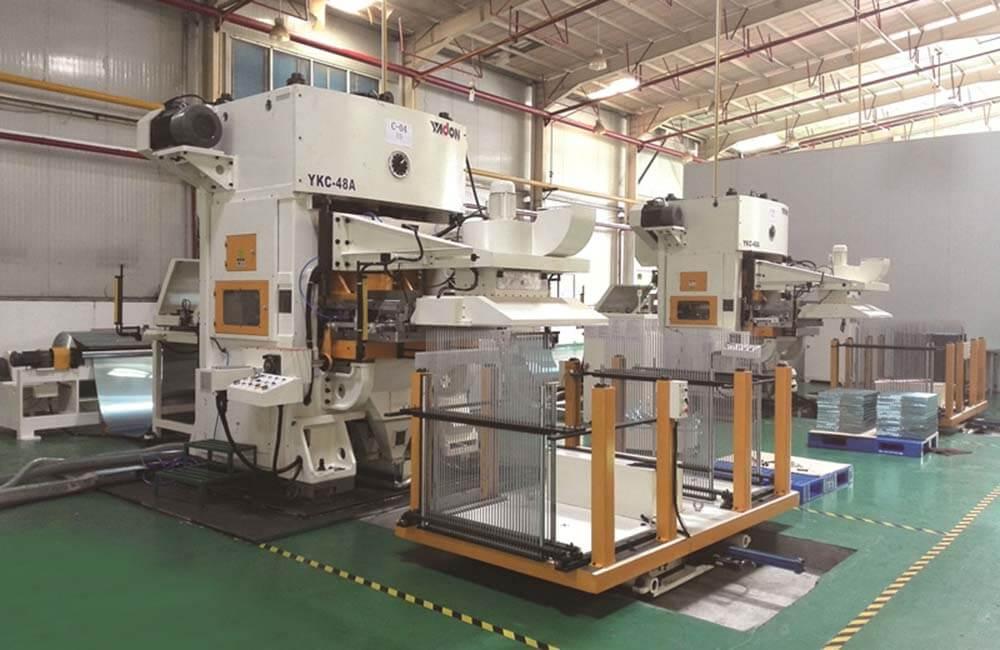 YKC空調翅片高速沖壓自動生產線