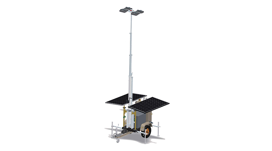 Solar Photovoltaic Mobile Lighting Tower
