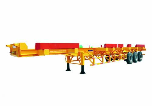 3-Axles 40 Ft Container Chassis Semi Trailer