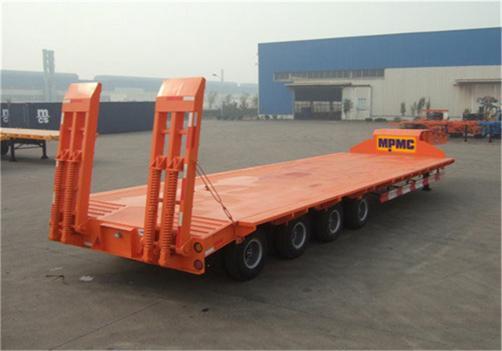 4-Axles 15m Low Bed Semit Railer