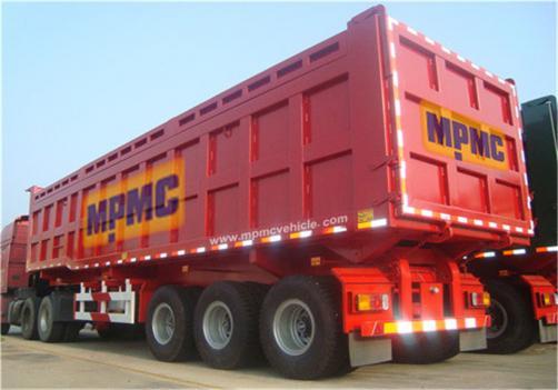 3-Axles 40cbm Dumper Semi Trailer