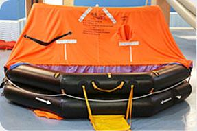 KHA type throw-over board inflatable liferafts