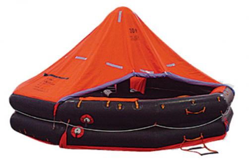 KHR type both sides of a canopied reversible inflatable liferafts