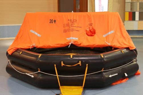 KHA type throw-over board inflatable liferafts for fishing vessels