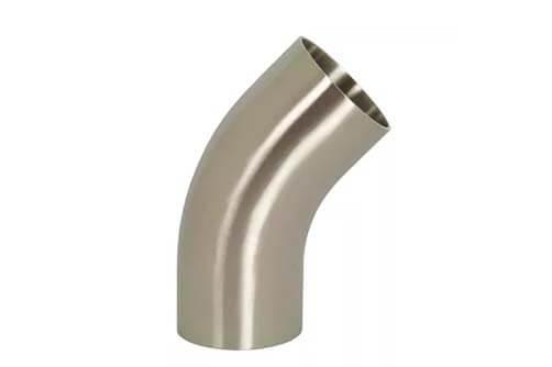 polished 45° elbow with tangents (L2KS)