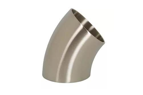 polished short 45° weld elbow
