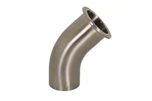 45º tri clamp x weld elbow