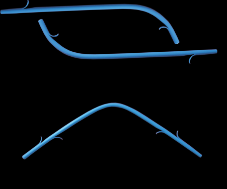 Double wings Plastic Stents