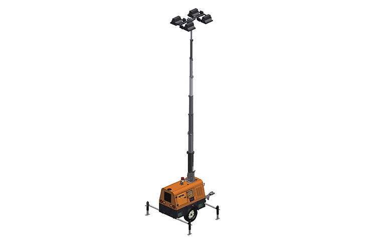 9m High Metal Halide Hydraulic Lighting Tower 4000w (Lhs)