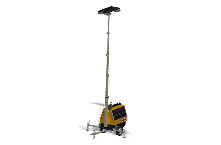 7m High Solar LED Manual Lighting Tower 200W