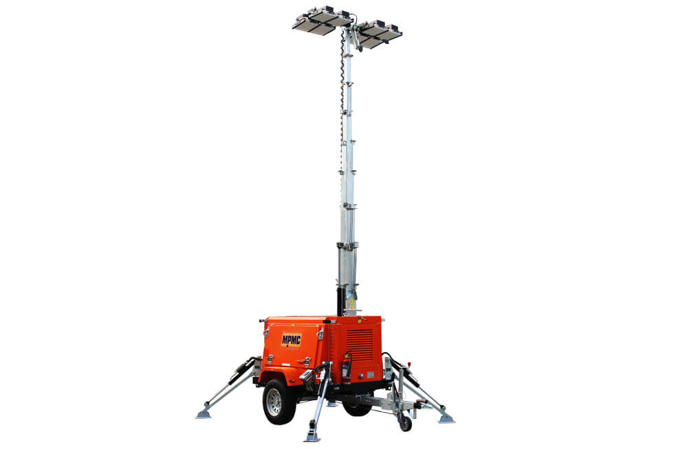 9m High Led Hydraulic Lighting Tower 2000w