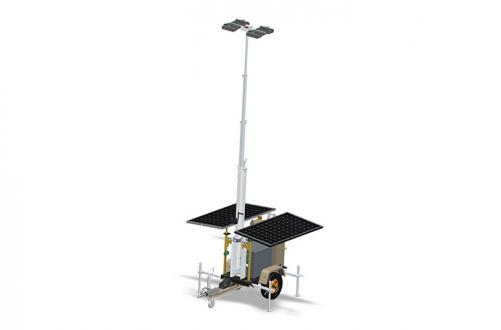 9m High Led Manual Lighting Tower 400w