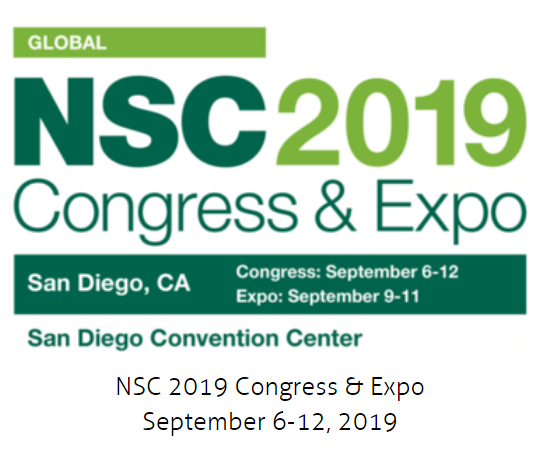 We will attend The NSC 2019 Expo at Booth No. 1309C-D