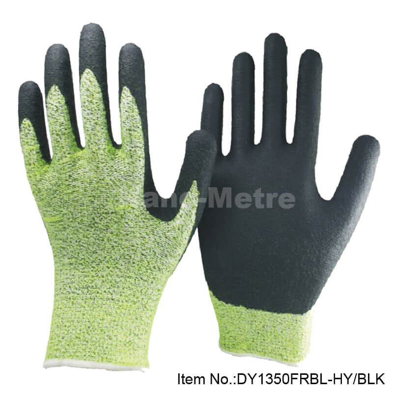 Foam Nitrile Cut level 5 Protective Work Glove -DY1350FRBL-HY/BLK