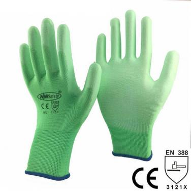 Green Gardening Safety Work Glove - PU1350P-HY