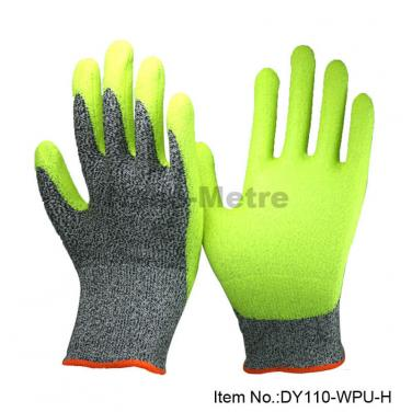 Water Based PU Dipped ANSI A4 Cut Gloves- DY110-WPU-H