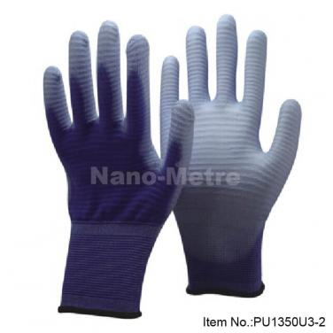 Purple Polyester Industrial Safety Hand Gloves- PU1350U3-PP
