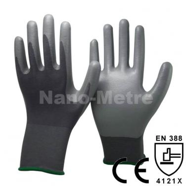 Grey Nitrile Dipping Nylon Palm Glove - NY1350-GR