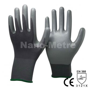 Grey Nitrile Dipping Polyester Construction Glove- NY1350P-GR