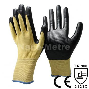 Yellow Nitrile Auto-Assembly Work Glove -NY1350U3P-Y/BLK