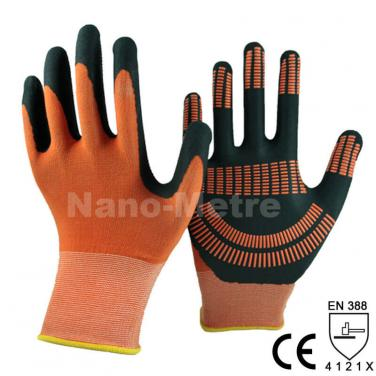 Foam Nitrile Palm With Dotted Work Glove - NY1350FDA-OR