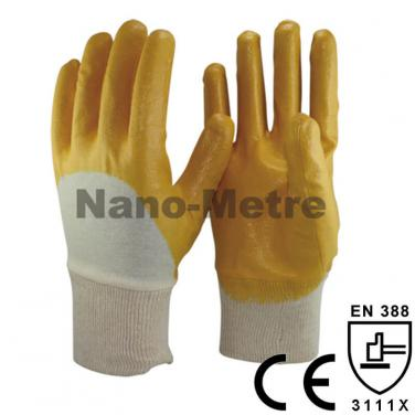 Cheap Yellow Nitrile 3/4 Dipped Chemical Work glove - NBR1260-Y