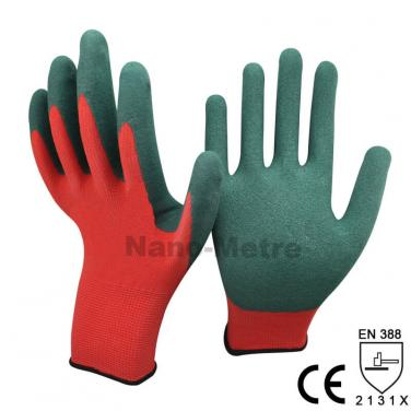 Green Sandy Latex Dipped Work Industry Glove  -NM1350S-R/GN