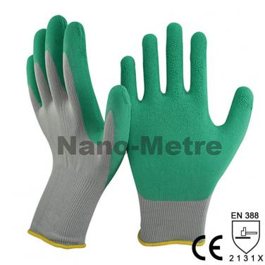 13 Gauge Seamless Knitted Nylon Garden Work Glove -NM1350F-GR/GN