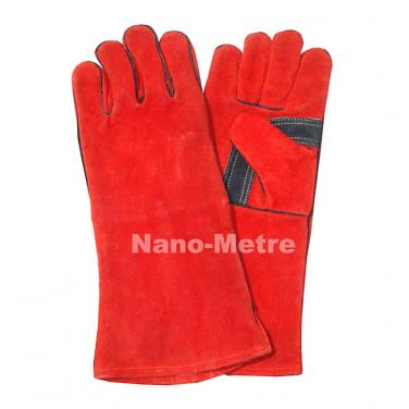 Long leather welding work gloves- CSW002