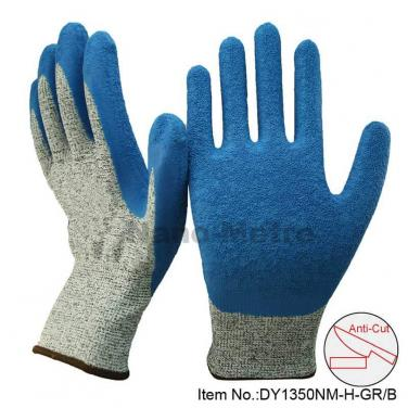 Blue Latex Palm Cut Resistant Work Glove - DY1350NM-HB