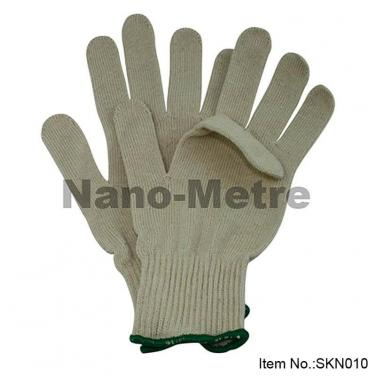 10 Gauge Natural Polycotton Working Gloves-  SKN0010